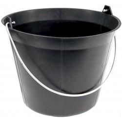 Seau plastique noir 11 l