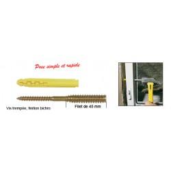 Sachet 8 Vis TOP ROC PVC 6x100/45