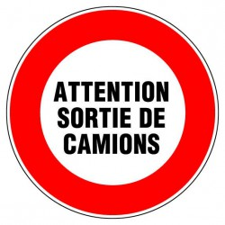 Disque 300 attention sortie camion