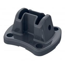 Platine alu gris 7016 pour poteau Easyclip