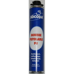 Mousse PU Pistolable Socoda/Soudal 750ml